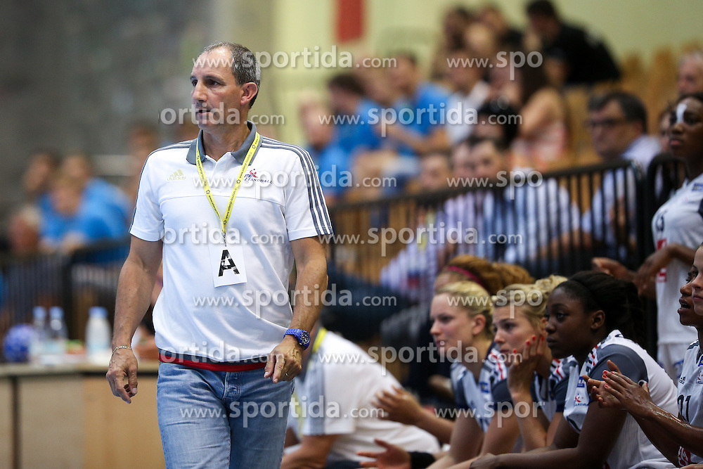Alain Portes, head coach of France, during handball match between National Teams of Slovenia and France in Qualification of 2015 Women's European Championship, on June 13th, in Rdeca Dvorana, Velenje. Photo by Morgan Kristan / Sportida