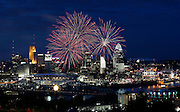 Thursday, July 25, 2013 BENGALS SPORTS : Cincinnati Bengals put on a pep rally that ended with a fireworks display over Paul Brown Stadium and downtown.  The Enquirer/Jeff Swinger