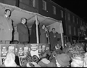 Image of Fianna Fáil leader Charles Haughey touring West Cork during his 1982 election campaign...04/02/1982.02/04/82.4th February 1982..Better job: ..Charles Haughey tells his audience that Fianna Fáil can make a better job of running the country.