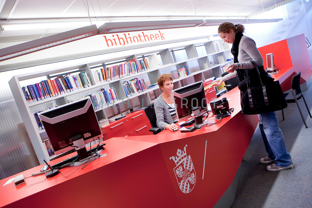 Bibliotheek in het Heymansgebouw (GMW) in Groningen, The Netherlands op June  08, 2009. (photo by Michel de Groot)