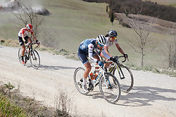Tayler Wiles (USA) battles up the fifth sector  at Strade Bianche - Elite Women 2019, a 136 km road race starting and finishing in Siena, Italy on March 9, 2019. Photo by Sean Robinson/velofocus.com