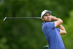 May 30, 2019 - Dublin, OH, U.S. - DUBLIN, OH - MAY 30: Alvaro Ortiz of Costa Rica plays his shot from the 18th tee during the Memorial Tournament presented by Nationwide at Muirfield Village Golf Club on May 30, 2018 in Dublin, Ohio. (Photo by Adam Lacy/Icon Sportswire) (Credit Image: © Adam Lacy/Icon SMI via ZUMA Press)
