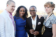 l to r: Chris Watts, Michelle Murray, David Mcknight, and Jamiaca Cole at The Launch Party for The Alize Ground-Breaking Online Reality Series Concrete & Cashmere Web Based Reality Show held at The Cooper Square Hotel on July 9, 2009 in New York City