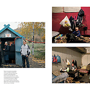 "Tearsheet of ""Life in Donetsk"" published in Courrier Internacional"