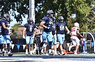 September 9,2017 - Elmhurst, IL,US - D3: Elmhurst College (Bluejays) vs Olivet College (Comets)  at Langhorst Field in Elmhurst IL.<br /> Bluejays lose a tough battle at home against the Comets. Comets win 26-20.<br /> (Credit: Credit: Dean Reid).
