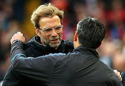 Liverpool manager Jurgen Klopp greets Huddersfield Town manager David Wagner - Mandatory by-line: Matt McNulty/JMP - 28/10/2017 - FOOTBALL - Anfield - Liverpool, England - Liverpool v Huddersfield Town - Premier League