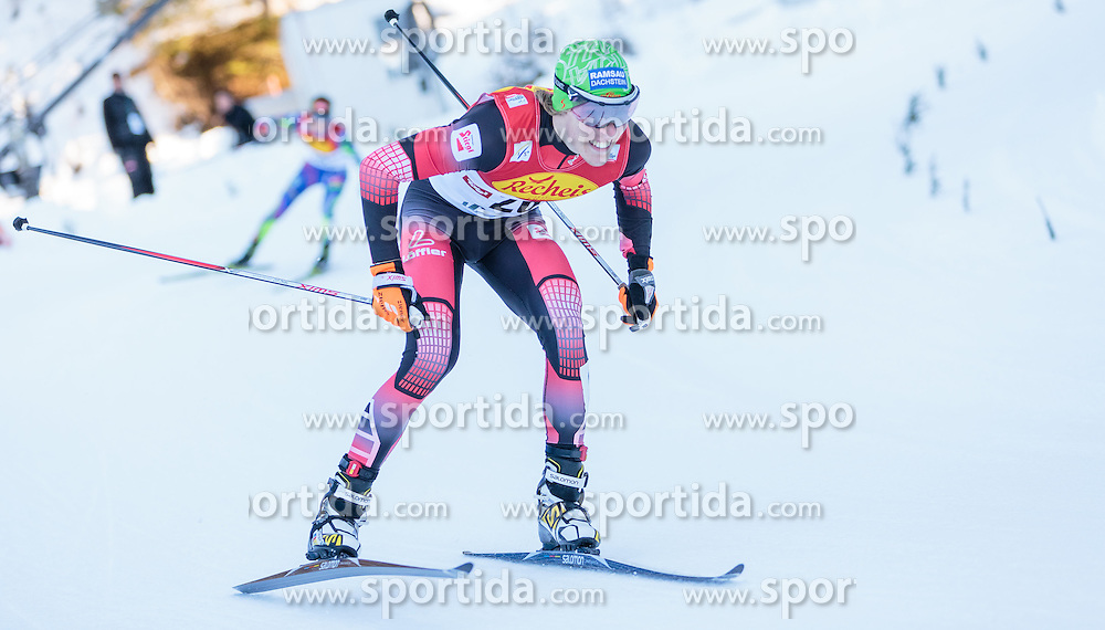 29.01.2016, Casino Arena, Seefeld, AUT, FIS Weltcup Nordische Kombination, Seefeld Triple, lANGLAUF, im Bild Franz-Josef Rehrl (AUT) // Franz-Josef Rehrl of Austria competes during 5km Cross Country Gundersen Race of the FIS Nordic Combined World Cup Seefeld Triple at the Casino Arena in Seefeld, Austria on 2016/01/29. EXPA Pictures © 2016, PhotoCredit: EXPA/ JFK