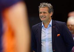 20150619 NED: World League Nederland - Portugal, Groningen<br /> De Nederlandse volleyballers hebben in de World League ook hun eerste duel met Portugal met 3-0 gewonnen / Coach Gido Vermeulen