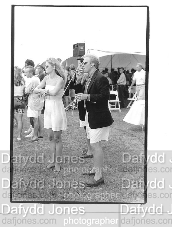 Lee and geoffrey Johnsa.  Van Cleef and Arpels Cup.  Polo Bridgehampton© Copyright Photograph by Dafydd Jones 66 Stockwell Park Rd. London SW9 0DA Tel 020 7733 0108 www.dafjones.com