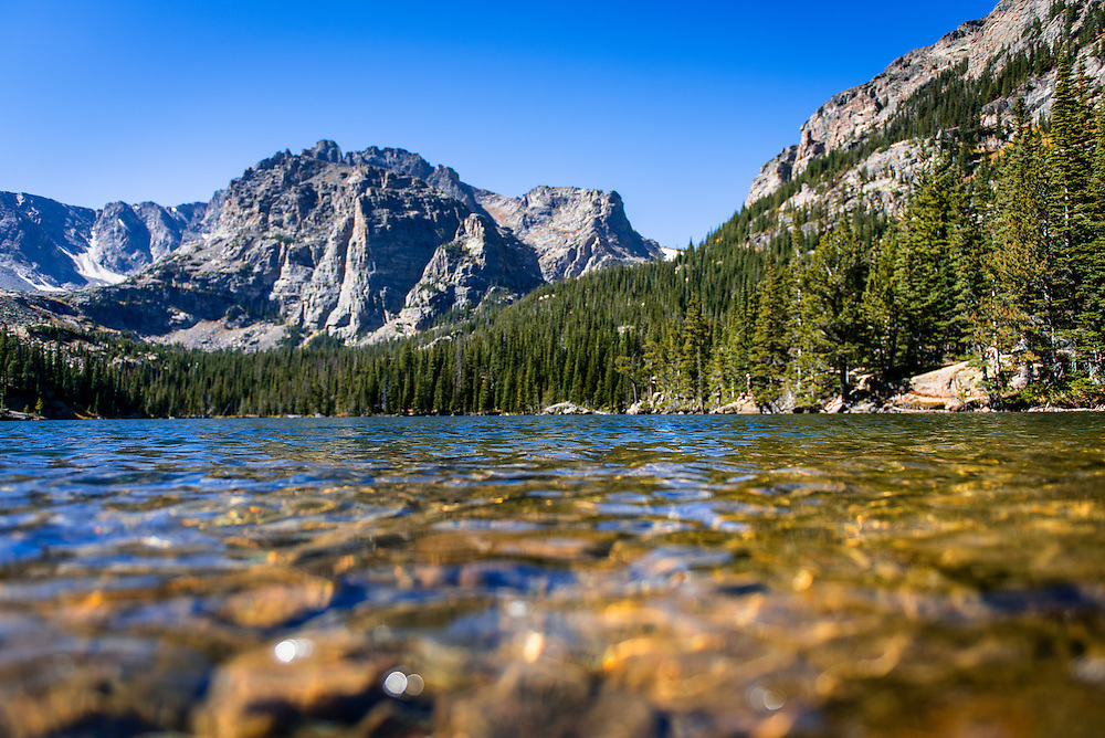 The Loch Lake in Rocky Mountain National Park
