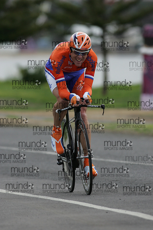 (Geelong, Australia---30 September 2010) Koos MOERENHOUT of the Netherlands (NED) racing to 6th place in the Elite Men's Time Trial race at the 2010 UCI Road World Championships [2010 Copyright Sean Burges / Mundo Sport Images -- www.mundosportimages.com]