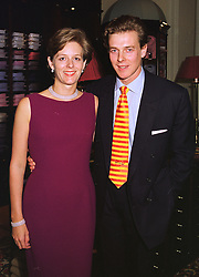 JAMES & JULIA OGILVY he is the son of Princess Alexandra, at a party in London on 14th October 1998.MKU 4
