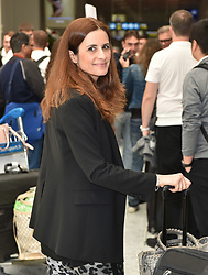 Colin Firth and wife Livia Giuggioli arrive for the Cannes filmm festival at nice airport. 20 May 2019 Pictured: Colin Firth, Livia Giuggioli. Photo credit: Neil Warner/MEGA TheMegaAgency.com +1 888 505 6342