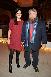 SOPHIE WINKLEMAN (Lady Frederick Windsor) and BRIAN BLESSED at the fourth annual Fayre of St James's charity Christmas concert hosted by the Quintessentially Foundation and The Crown Estate in partnership with Deutsche Asset & Wealth Management held at  St James's Church, 197 Piccadilly, London followed by a party at Quaglino's 16 Bury Street, London on 24th November 2015.