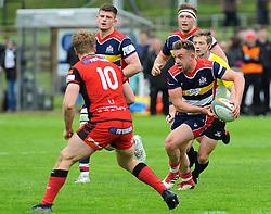 Andy Uren of Bristol Rugby looks for a pass - Mandatory by-line: Nizaam Jones/JMP- 28/04/2018 - RUGBY - Gillman's Ground - Hartpury, England - Bristol Rugby v Hartpury- Greene King IPA Championship
