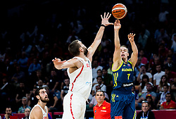 Marc Gasol of Spain vs Klemen Prepelic of Slovenia during basketball match between National Teams of Slovenia and Spain at Day 15 in Semifinal of the FIBA EuroBasket 2017 at Sinan Erdem Dome in Istanbul, Turkey on September 14, 2017. Photo by Vid Ponikvar / Sportida