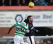 Dundee&rsquo;s Marcus Haber and Celtic&rsquo;s Dedryck Boyata compete in the air - Dundee v Celtic in the Ladbrokes Scottish Premiership at Dens Park, Dundee.Photo: David Young<br /> <br />  - &copy; David Young - www.davidyoungphoto.co.uk - email: davidyoungphoto@gmail.com