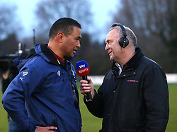 Bristol Rugby Head Coach Pat Lam speaks to Sky Sports before the encounter against Nottingham Rugby - Mandatory by-line: Robbie Stephenson/JMP - 06/04/2018 - RUGBY - The Bay - Nottingham, England - Nottingham Rugby v Bristol Rugby - Greene King IPA Championship