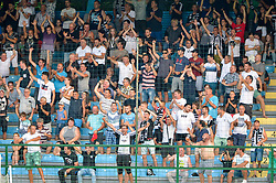 Fans of NS Mura celebrates during football match between NS Mura and NK Domzale in 3rd Round of Prva liga Telekom Slovenije 2018/19, on Avgust 05, 2018 in Mestni stadion Fazanerija, Murska Sobota, Slovenia. Photo by Mario Horvat / Sportida
