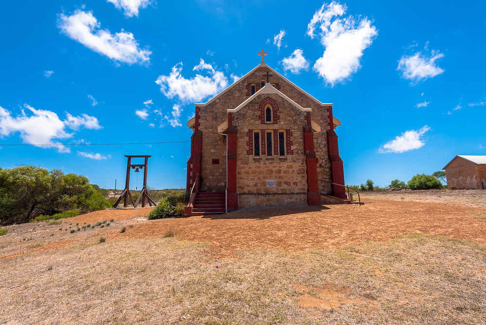 Greenough, Australia -- February 4, 2018. St. Catherine's Church in the restored historic town of Greenough, Australia. Editorial Use Only.
