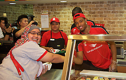 KUALA LUMPUR, MALYASIA - Thursday, July 23, 2015: Liverpool's Jordon Ibe during a Subway event at the Paradigm Mall on day eleven of the club's preseason tour. (Pic by David Rawcliffe/Propaganda)