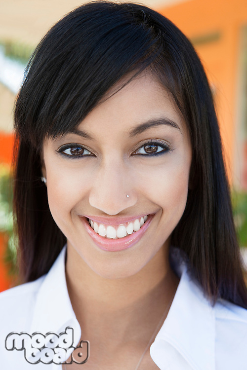 Young Woman with Nose Piercing