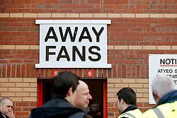 The away entrance before the match - Photo mandatory by-line: Rogan Thomson/JMP - 07966 386802 - 25/01/2015 - SPORT - FOOTBALL - Bristol, England - Ashton Gate Stadium - Bristol City v West Ham United - FA Cup Fourth Round Proper.