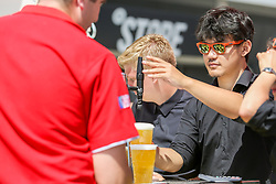 Drinks are served at the bar outside as England play against Panama - Ryan Hiscott/JMP - 24/06/18 - Ashton Gate - Bristol, England - Fans Visit the World Cup Village at Ashton Gate for the England v Panama Group Match, Ashton Gate