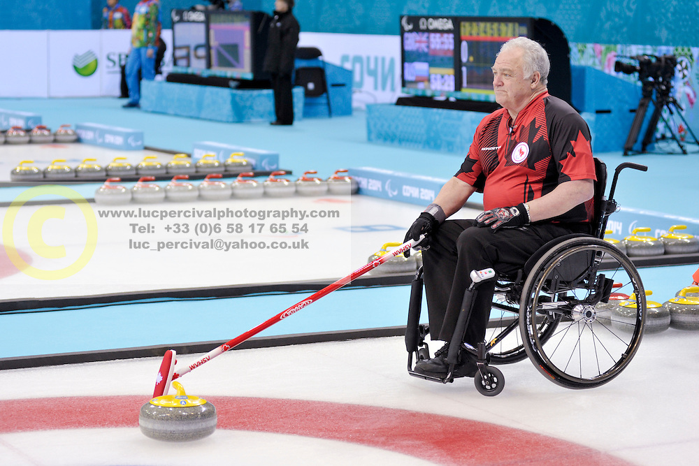 Jim Armstrong, Wheelchair Curling Semi Finals at the 2014 Sochi Winter Paralympic Games, Russia