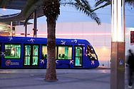 France, Languedoc Roussillon, Hérault, Montpellier, quartier Odysseum, le tramway
