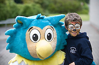 Oltan HSE Community Games Mascot and  Michael Lown from    at  the HSE Community Games National finals 2010 held at the AIT, (Athlone Institute of Technology). Photo:Andrew Downes.