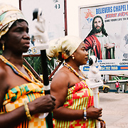 Urban Scene During the Yam Festival by Antoinette Dumegah