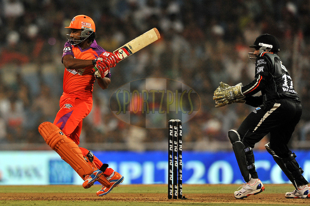 Raiphi Gomez of Kochi Tuskers Kerala bats during  match 10 of the Indian Premier League ( IPL ) Season 4 between the Pune Warriors and the Kochi Tuskers Kerala held at the Dr DY Patil Sports Academy, Mumbai India on the 12th April 2011..Photo by Pal Pillai /BCCI/SPORTZPICS