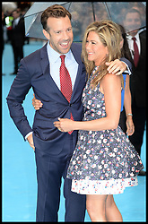 Jennifer Aniston with Jason Sudeikis arrive for the We're The Millers - European Film Premiere. Odeon, London, United Kingdom. Wednesday, 14th August 2013. Picture by Andrew Parsons / i-Images