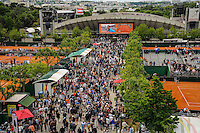 illustration courts annexes / court Suzanne Lenglen  - 28.05.2015 - Jour 5 - Roland Garros 2015<br /> Photo : Nolwenn Le Gouic / Icon Sport