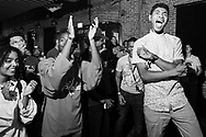 Attendees dance while CRL CRRLL performs at Red Bull Sound Select Presents Denver at the Moon Room in Denver, CO, USA, on 22 August, 2015.