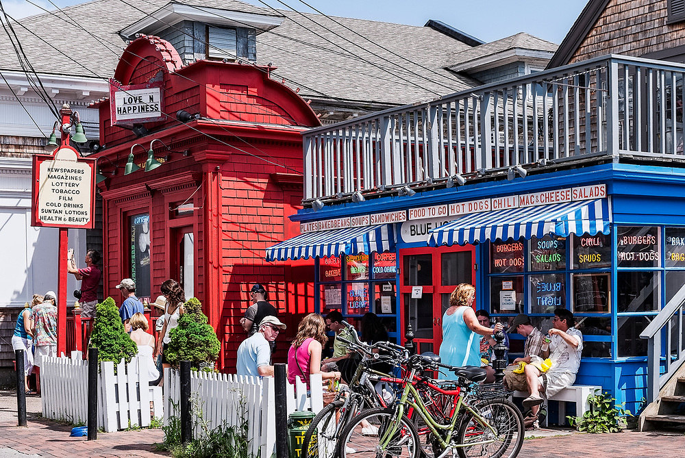 Commerce Street shops, Provincetown, Cape Cod, Massachusetts, USA.