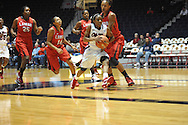 """Ole Miss' Valencia McFarland (3) vs. Lamar in women's college basketball at the C.M. """"Tad"""" Smith Coliseum in Oxford, Miss. on Monday, November 19, 2012.  Lamar won 85-71."""