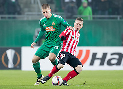 08.12.2016, Weststadion, Wien, AUT, UEFA EL, SK Rapid Wien vs Athletic Club Bilbao, Gruppe F, im Bild Srdjan Grahovac (SK Rapid Wien), Iker Muniain (Athletic Club Bilbao) // during a UEFA Europa League, group F game between SK Rapid Wien and Athletic Club Bilbao at the Weststadion, Vienna, Austria on 2016/12/08. EXPA Pictures © 2016, PhotoCredit: EXPA/ Sebastian Pucher