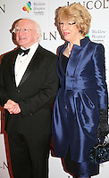 Irish President Michael D Higgins and his wife Sabina Coyne at the Lincoln film premiere Savoy Cinema in Dublin, Ireland. Sunday 20th January 2013.