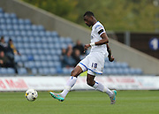 Semi Ajayi during the Sky Bet League 2 match between Oxford United and AFC Wimbledon at the Kassam Stadium, Oxford, England on 10 October 2015.