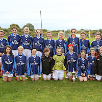 Newmarket-on-Fergus U13 Girls who defeated Connolly Celtic in the U13 Cup Final.<br /> Photograph by Flann Howard