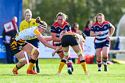 Izzy Noel-Smith of Bristol Ladies is tackled by Alice Sheffield of Wasps Ladies - Mandatory by-line: Craig Thomas/JMP - 28/10/2017 - RUGBY - Cleve RFC - Bristol, England - Bristol Ladies v Wasps Ladies - Tyrrells Premier 15s