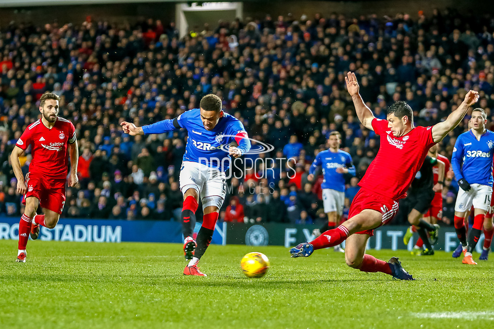 *** during the William Hill Scottish Cup quarter final replay match between Rangers and Aberdeen at Ibrox, Glasgow, Scotland on 12 March 2019.