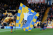 Mansfield Town mascot during the EFL Sky Bet League 2 match between Mansfield Town and Grimsby Town FC at the One Call Stadium, Mansfield, England on 4 January 2020.