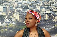 Edinburgh UK. 03 August. Ruth Rogers-Wright performance as Nina Simone Black in Edinburgh during The Edinburgh Fringe Festival in New Town Theatre. Pictured Ruth Rogers-Wright. Pic Pako Mera