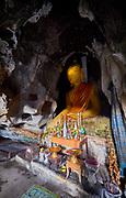 Laos, Xieng Khouang Province. Tham Pha Buddha Cave.