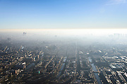 Nederland, Noord-Holland, Amsterdam, 11-12-2013; Amsterdam-Zuid met zicht op de Zuidas (in tegenlicht). Links aan de horizon omgeving Amstelstation. Voogrond en vlnr Water van Nassaukade, Da Costakade, Bilderdijkstraat, Bilderdijkkade<br /> South Amsterdam with a view of the Zuidas financial centre (backlit).<br /> luchtfoto (toeslag op standaard tarieven);<br /> aerial photo (additional fee required);<br /> copyright foto/photo Siebe Swart.