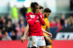 Kasey Palmer of Bristol City rues a missed opportunity - Mandatory by-line: Ryan Hiscott/JMP - 17/02/2019 - FOOTBALL - Ashton Gate Stadium - Bristol, England - Bristol City v Wolverhampton Wanderers - Emirates FA Cup fifth round proper