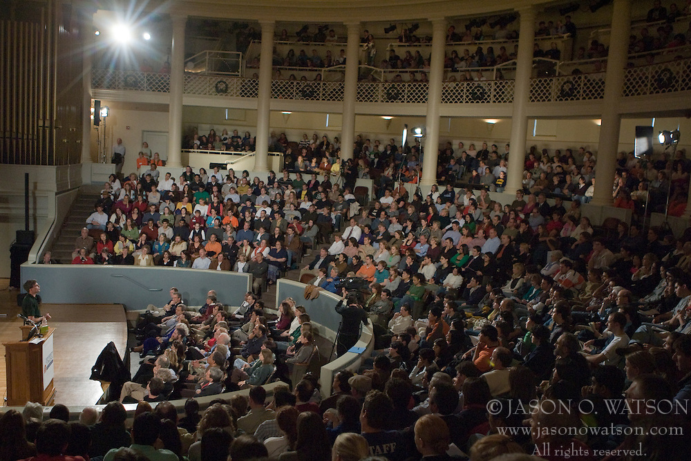 "The University of Virginia's School of Engineering hosted Randy Pausch for his lecture on ""Time Management"" at Cabell Hall in Charlottesville, VA on November 27, 2007."